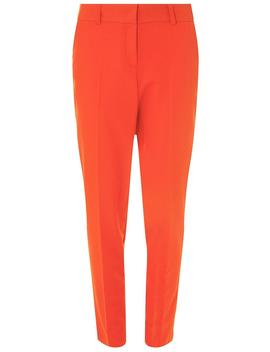 **Tall Red Split Hem Ankle Grazer Trousers by Dorothy Perkins