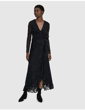 Flynn Lace Wrap Maxi Dress by Ganni
