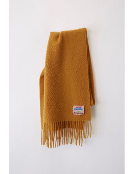 Fringed Scarf Honey Yellow by Acne Studios