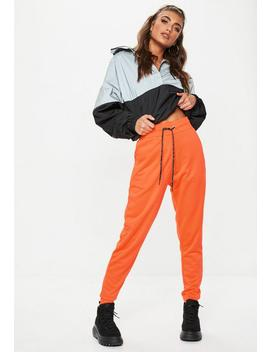 Neon Orange Jersey Joggers by Missguided
