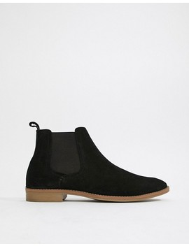 Asos Design Chelsea Boots In Black Suede With Natural Sole by Asos Design