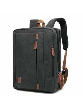 Cool Bell 17.3 Inches Convertible Laptop Messenger Bag Oxford Cloth Shoulder Bag Backpack Multi Functional Briefcase For Laptop/Mac Book / Tablet Men/Women (Black) by Cool Bell