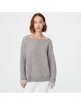 Donah Striped Cashmere Sweater by Club Monaco