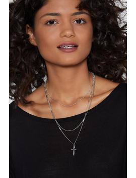 Cross With You Layered Necklace by Nasty Gal