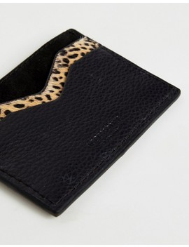 Accessorize Leopard Leather Cardholder by Accessorize
