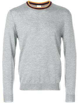 Paul Smithstripe Trim Sweaterhome Men Paul Smith Clothing Knitted Sweaters by Paul Smith