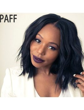 Paff Full Lace Human Hair Wigs For Black Women Natural Wave Full End Brazilian Virgin Hair Short Bob Wig Middle Part Pre Plucked by Paff