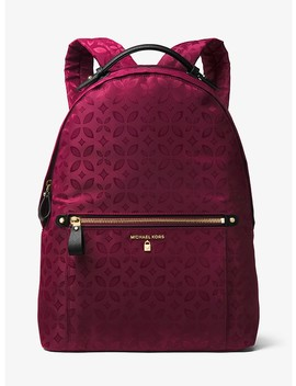 Kelsey Large Floral Nylon Backpack by Michael Michael Kors