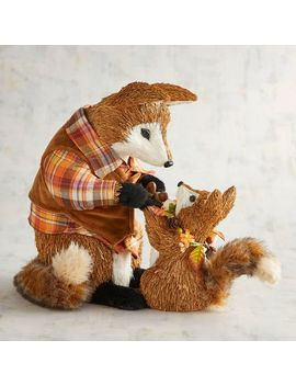 Ferris The Natural Fox With Baby Farley by Grateful Harvest Collection