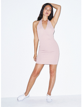 Ponte Halter Dress by American Apparel