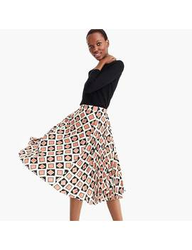 Collection Silk Accordion Pleated Skirt In Ratti® Tile Print by Collection Silk Accordion Pleated Skirt In Ratti