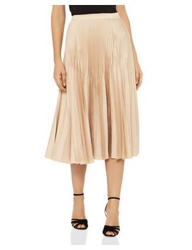 Isidora Metallic Pleated Skirt by Reiss