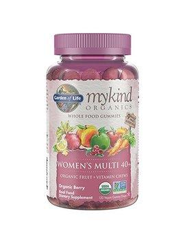 Garden Of Life   Mykind Organics Women 40+ Gummy Vitamins   Berry   Certified Organic, Non Gmo, Vegan, Kosher Complete Multi   Methyl B12, C & D3   Gluten, Soy & Dairy Free   120 Real Fruit Gummies by Garden Of Life