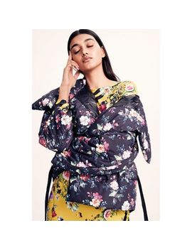 Studio By Preen   Multicoloured Floral Print Wrap Puffer Coat by Studio By Preen