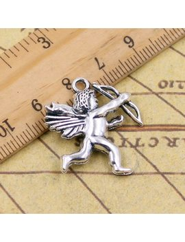 10pcs Charms Love Angel Cupid 29*26mm Tibetan Silver Plated Pendants Antique Jewelry Making Diy Handmade Craft by Si Xiang