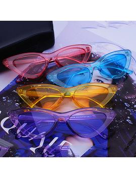 Fs Yuri Yuan Candy Colors Sunglasses For Women Cat Eye Sun Glasses Brand Designer Fashion Female Eyewear Cool Uv400 Gafas De Sol by Fs Yuri Yuan