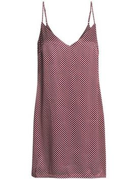 Polka Dot Satin Mini Dress by Zimmermann