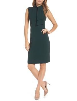 Tie Neck Sheath Dress by Harper Rose