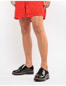 New Look Patent Lace Up Flat Shoe by New Look