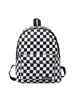 2018 Summer Hot Sale Women Men Unisex Lattice Backpack New Trend Checkerboard Teenagers School Bag Couples Back Pack Travel Bag  by Fvip