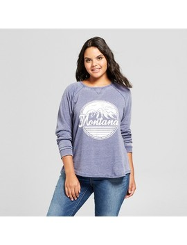 Women's Plus Size Montana Graphic Sweatshirt   Grayson Threads (Juniors')   Navy by Grayson Threads