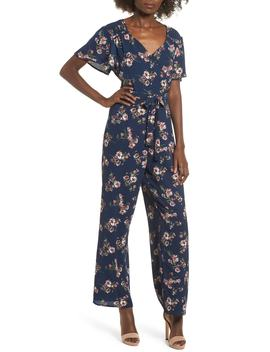 Floral Surplice Jumpsuit by Row A