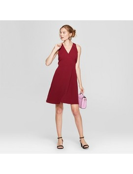 Women's Sleeveless Wrap Crepe Dress   A New Day™ Burgundy by A New Day™