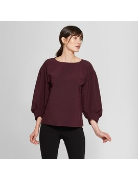 Women's 3/4 Raglan Balloon Sleeve Blouse   Prologue™ by Prologue™
