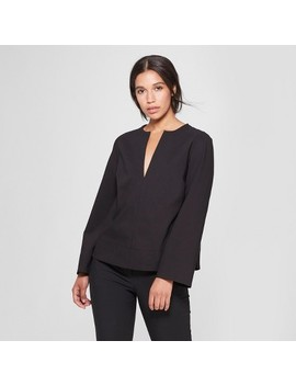 Women's Long Sleeve V Neck Blouse   Prologue™ by Target