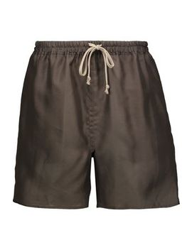 Silk Organza Shorts by Rick Owens