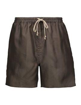 Silk Organza Shorts by Rick Owens