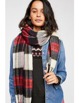Bailey Brushed Plaid Scarf by Free People
