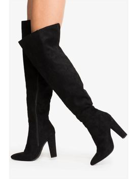 With Pleasure Over The Knee Boot by A'gaci