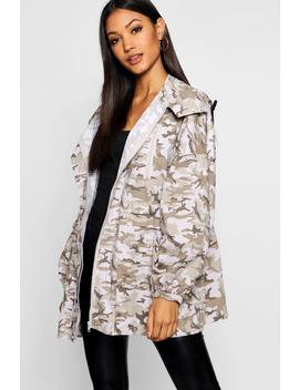 Oversized Camo Utility Jacket by Boohoo