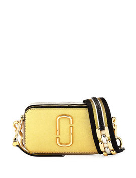 Snapshot Metallic Saffiano Leather Camera Bag by Marc Jacobs