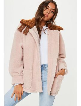 Stone Borg Aviator Jacket With Contrast Collar by Missguided