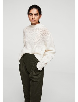 Wełniany Sweter Z Półgolfem by Mango