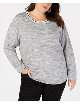 Plus Size Space Dyed Top, Created For Macy's by Style & Co