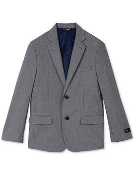 Sharkskin Suit Jacket, Big Boys by Tommy Hilfiger