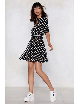 Dot Under The Collar Polka Dot Shirt Dress by Nasty Gal
