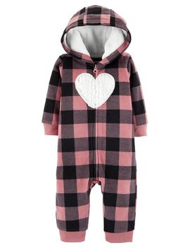 Plaid Hooded Fleece Jumpsuit by Carter's