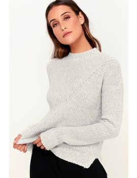 Pine Grey Knit Sweater by Olive + Oak