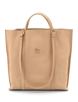 Large Leather Tote Bag by Il Bisonte