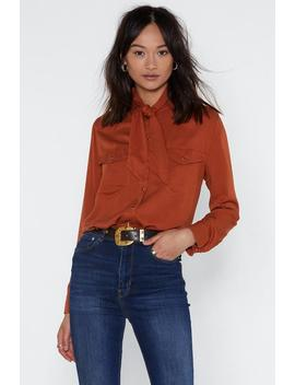 Not Your First Rodeo Neck Tie Shirt by Nasty Gal