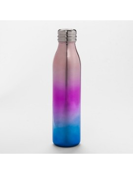 20oz Venti Air Transfer Stainless Steel Portable Water Bottle Pink/Purple Ombre   Room Essentials™ by Room Essentials™