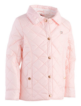 Toddler Girls Quilted Barn Jacket by Tommy Hilfiger