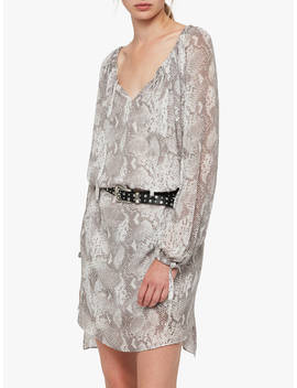 All Saints Chesca Snake Print Dress, Pale Grey by All Saints