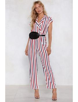 Lay Down The Line Jumpsuit by Nasty Gal