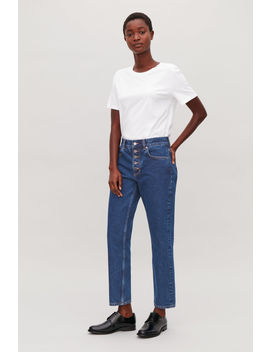 28 Inch Button Up Slim Crop Jeans by Cos