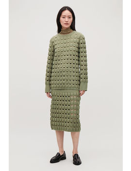Cut Out Wool Knit Jumper by Cos